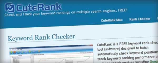 CuteRank.net—关键词排名检测工具